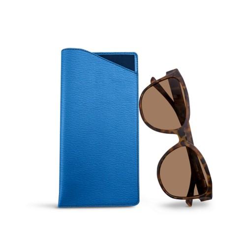 Large Eyeglass Case - Royal Blue - Goat Leather