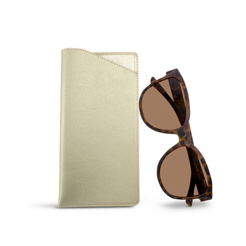 Large eyeglass case - Off-White - Goat Leather