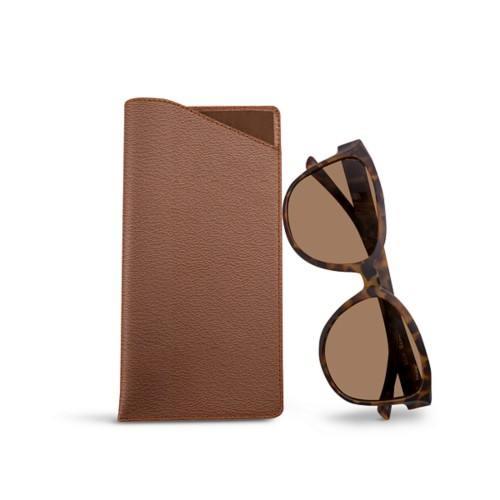Large Eyeglass Case - Tan - Goat Leather