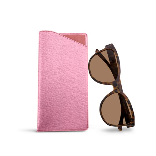 Large eyeglass case - Pink - Goat Leather