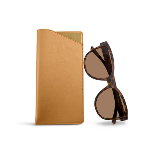 Large eyeglass case - Natural - Smooth Leather