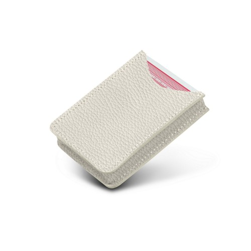 Case for playing cards - Off-White - Granulated Leather