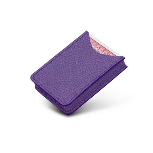 Etui voor 52 pokerkaarten - Lavendel - Korrelig Leer