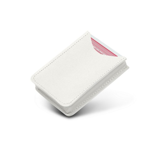 Case for playing cards - White - Smooth Leather