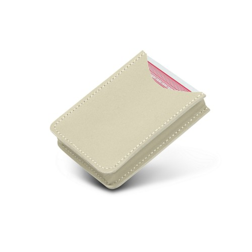 Case for playing cards - Off-White - Smooth Leather