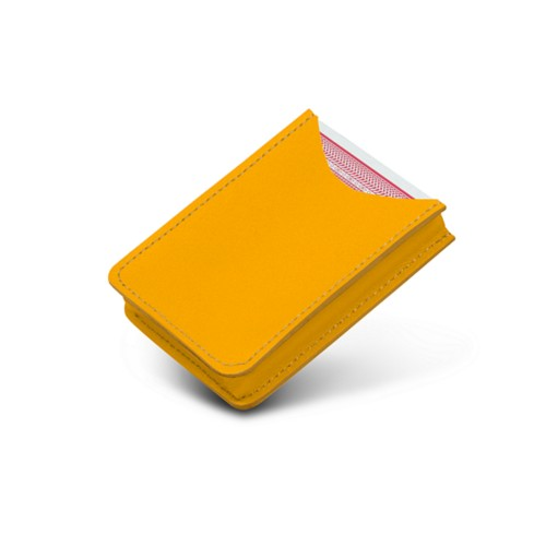 Case for playing cards - Sun Yellow - Smooth Leather