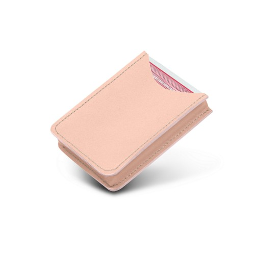 Case for playing cards - Nude - Smooth Leather