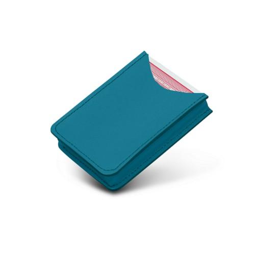 Etui voor 52 pokerkaarten - Turquoise - Soepel Leer