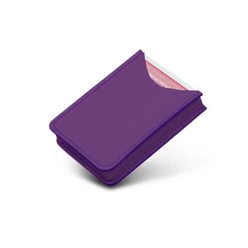 Etui voor 52 pokerkaarten - Lavendel - Soepel Leer