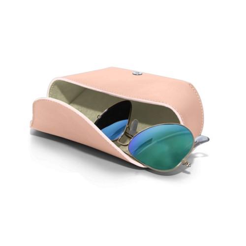 Semi-Rigid glasses belt case - Nude - Smooth Leather
