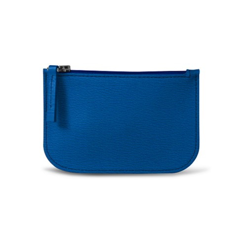 Earphone pouch - Royal Blue - Goat Leather