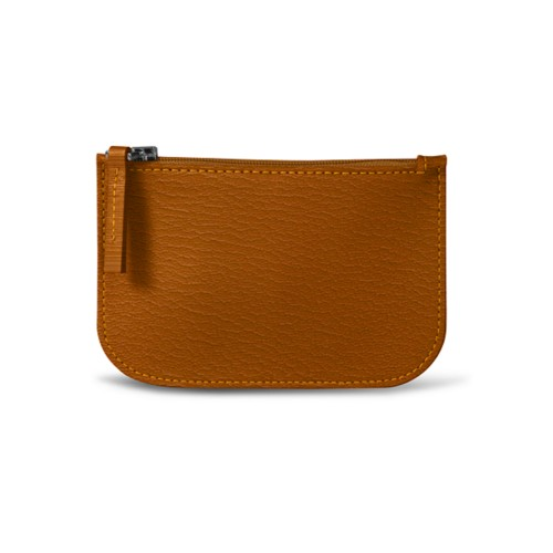 Earphone pouch - Saffron - Goat Leather