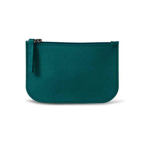Earphone pouch - Sea Green - Goat Leather