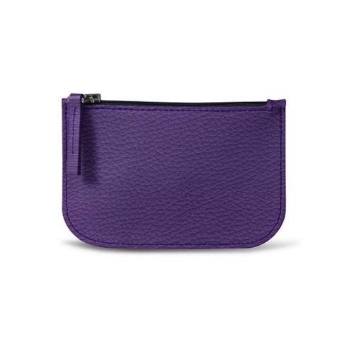 Earphone pouch - Lavender - Granulated Leather