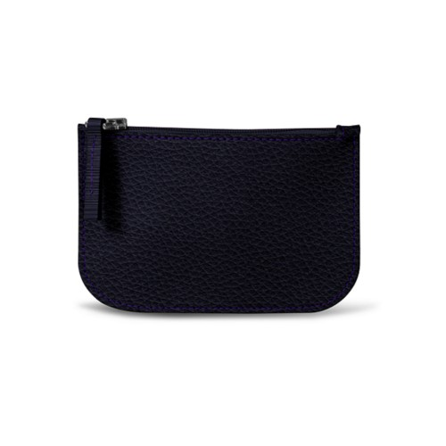 Earphone pouch - Purple - Granulated Leather