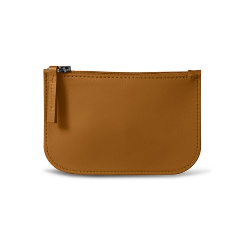Earphone pouch - Natural - Smooth Leather