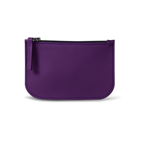 Earphone pouch - Lavender - Smooth Leather