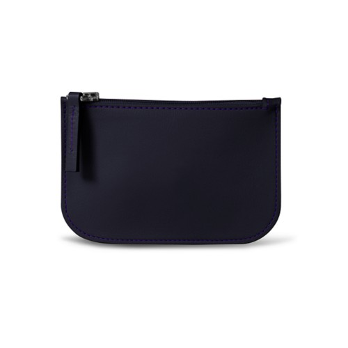 Earphone pouch - Purple - Smooth Leather