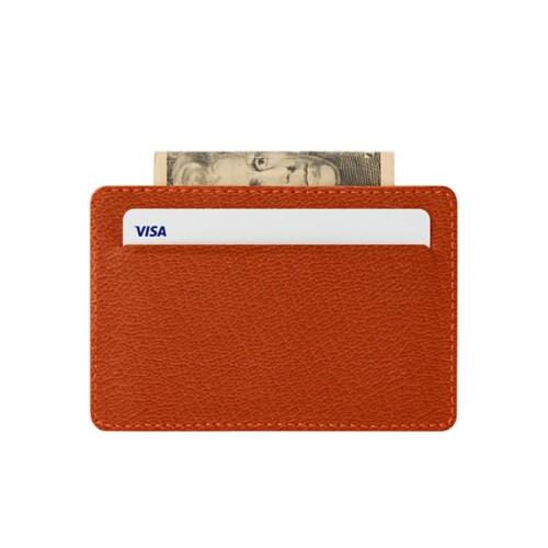 Hülle für 2 Kreditkarten mit Hauptfach