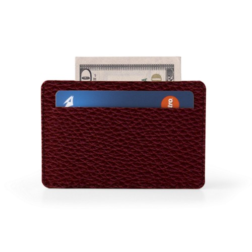 Case for 2 credit cards with central pocket