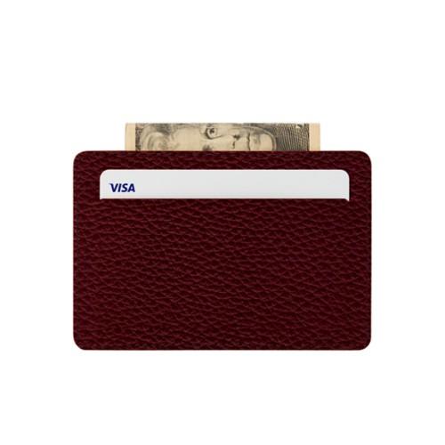 Custodia per 2 carte di credito con tasca centrale