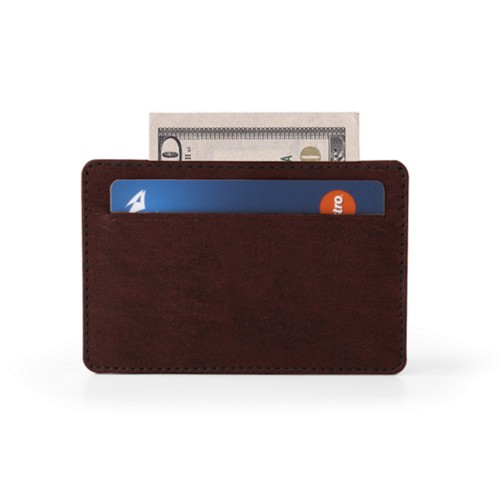Case for 2 credit cards - Dark Brown - Vegetable Tanned Leather
