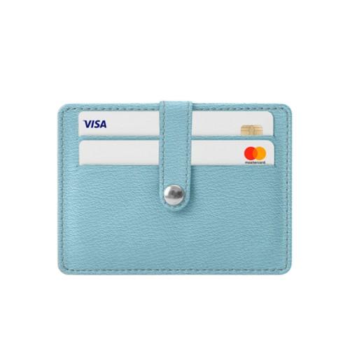 8 Cartera de tarjetas de crédito - Azul cielo - Piel de Cabra