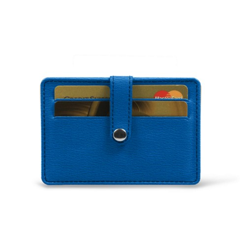 Card wallet for 8 cards - Royal Blue - Goat Leather