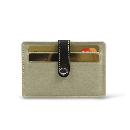 Card wallet for 8 cards - Off-White-Mouse-Grey - Goat Leather
