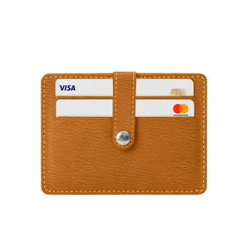 8 Cartera de tarjetas de crédito - azafrán amarillo - Piel de Cabra