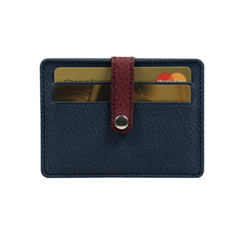 Bicolour card wallet for 8 cards
