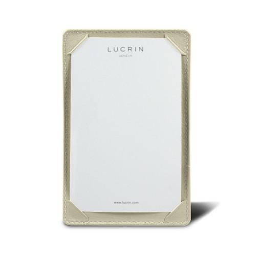 Libreta de bolsillo (13 x 8.5 cm) - Blanco Crudo - Piel Liso
