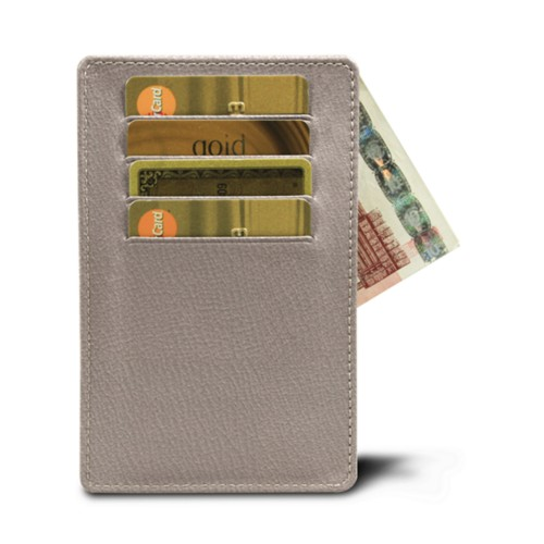 8 cards holder (13 x 8.2 cm) - Light Taupe - Goat Leather
