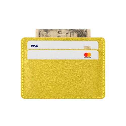 Custodia orizzontale per quattro carte con tasca centrale