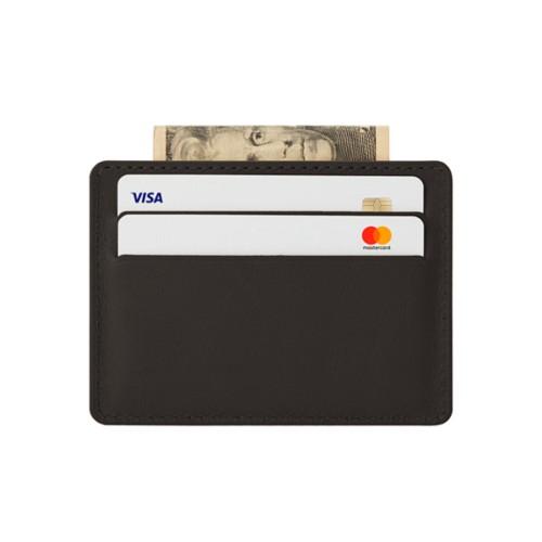 Estuche horizontal para 4 tarjetas con bolsillo central