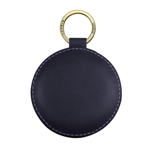 Portachiavi rotondo di 9 cm con anello color - Oro