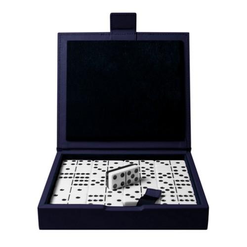 Domino Spiel - Königsblau  - Glattleder