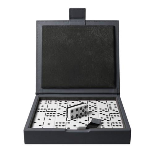Domino Spiel - Mausgrau - Glattleder