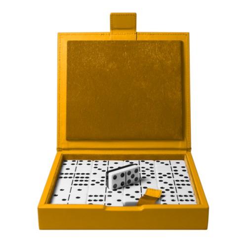 Domino Spiel - Sonnengelb - Glattleder