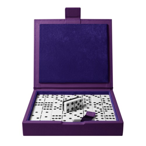 Dominoes set - Lavender - Smooth Leather