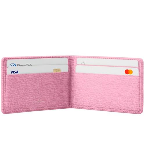 Kreditkarten Portemonnaie - Rosa-Dunkeltaupe - Ziegenleder