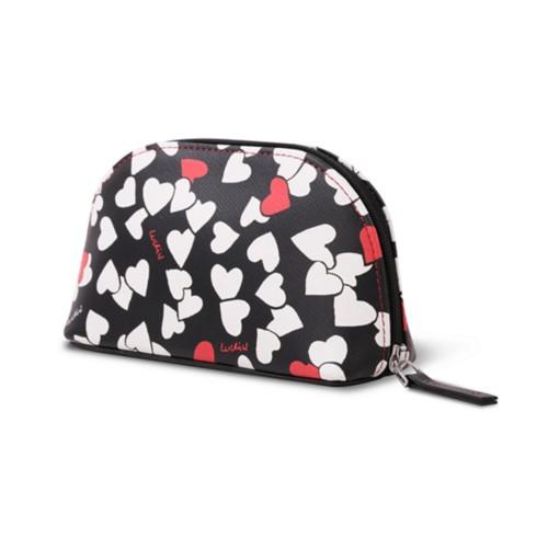 Makeup bag (16 x 8.5 x 5.5 cm) - Heart - Safiano