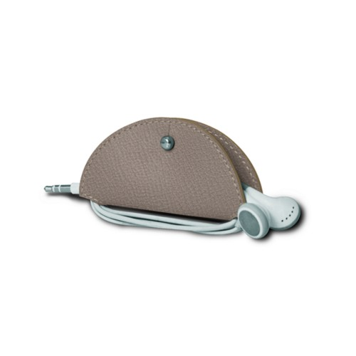 Earbud holder - Light Taupe - Goat Leather