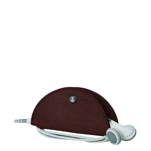 Range-câble et écouteurs - Marron Foncé - Cuir végétal