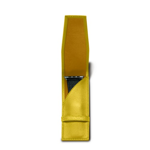 Watchband holder - Lemon Yellow - Goat Leather