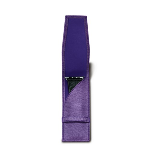 Watchband holder - Lavender - Granulated Leather