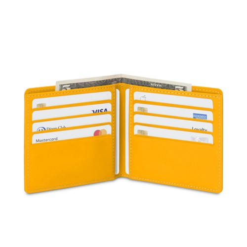 Classic wallet - Sun Yellow - Smooth Leather