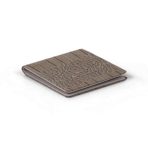 Classic wallet - Light Taupe - Crocodile style calfskin