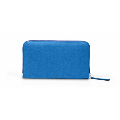 Zip around wallet - Royal Blue - Goat Leather