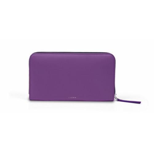 Zip around wallet - Lavender - Smooth Leather